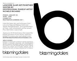 bloomingdale s lancôme master class