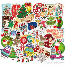 2020 Waterproof Christmas Car Stickers And Decals For Laptop Water Bottles Macbook Computer Skateboard Luggage Decal Graffiti Patches From Blake Online 2 11 Dhgate Com