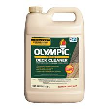 Olympic 128 Oz Premium Deck Cleaner 52125a 01 The Home Depot