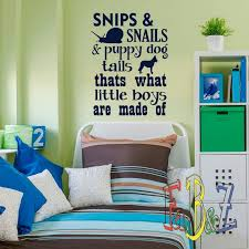 Wall Decals Nursery Snips And Snails And Puppy Dog Tails What Etsy