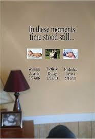 In These Moments Time Stood Still Vinyl Wall Sticker Lettering Personalized Ebay