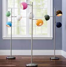 Modern Floor Lamps With Three Colorful Orbs Homemydesign