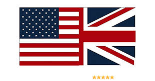 Amazon Com American British Flag Decal 6 X3 6 Usa Britain Union Jack Vinyl Car Sticker Automotive