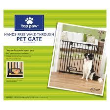 Top Paw Hands Free Walk Through Pet Gate Dog Dog Doors Gates Petsmart