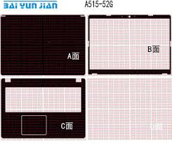Carbon Fiber Laptop Sticker Decal Skin Cover Protector For Acer A515 52g 15 6 Ebay