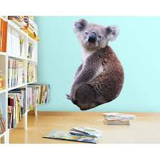 Vwaq Koala Vinyl Wall Decal Koala Bear Wall Sticker Decor Peel And Stick Animal Pas23 42 H X 26 W Walmart Com Walmart Com