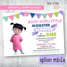 Monsters Inc Invitation Monsters Inc Boo Birthday Invitation