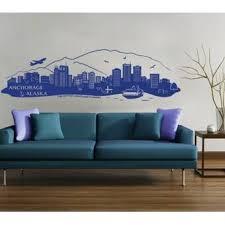 Style And Apply Anchorage Alaska Skyline Wall Decal Wayfair