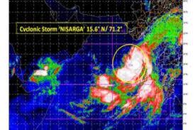 Cyclone Nisarga presently 430 kms south ...
