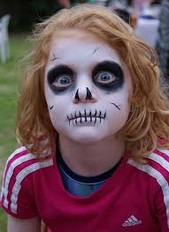scary skull halloween makeup for kids