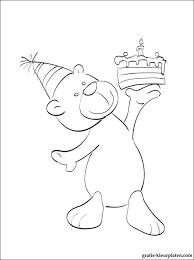 Verjaardag Winnie De Poeh Kleurplaat Gratis Kleurplaten