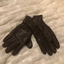 mens thinsulate brown leather gloves