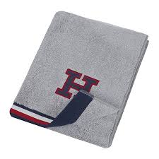 tommy hilfiger chine towel gray