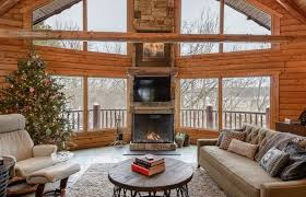 gas fireplace rustic family room