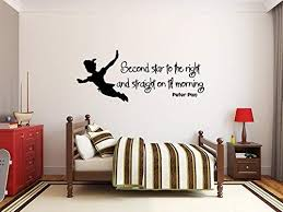 Amazon Com Ceciliapater Peter Pan Wall Decal Quote Vinyl Stickers Kids Room Decor Nursery Art 44nsc Kitchen Dining