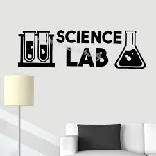 Science Lab Wall Stickers Chemistry Instrument Vinyl Decal University School Classroom Decor Poster Teacher Lecture Mural Eb434 Wall Stickers Aliexpress