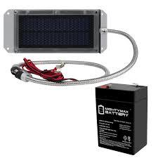 6v 4 5ah Battery Replaces Power Wizard Pw50s Fence 6v Solar Panel Walmart Com Walmart Com