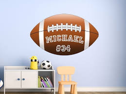 Vwaq Personalized Name Football Wall Decals For Kids Room Sports Wall Art For Sale Online
