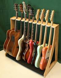 wood multi guitar stand plans