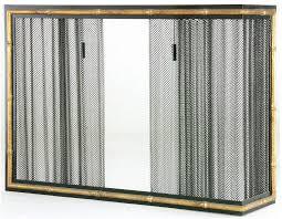 corner fireplace screens and doors