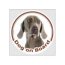 Sticker Circle Sticker Dog On Board 15 Cm Weimaraner Head