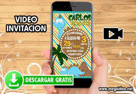 Video Invitacion Cumpleanos Dinosaurios Gratis Mega Idea