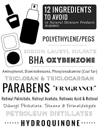 avoid in makeup and skincare s