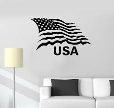 Vinyl Wall Decal United States Patriot Symbol American Flag Stickers M Wallstickers4you
