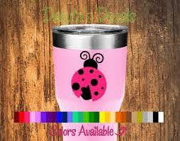Ladybug Tumbler Decal Decal Only Tumbler Not Included Etsy