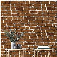 hopeak red brick wallpaper good for