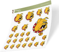Amazon Com Ferris State University Fsu Bulldogs Ncaa Sticker Vinyl Decal Laptop Water Bottle Car Scrapbook Sheet Type 3 1 Arts Crafts Sewing