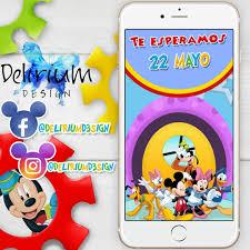 Video Invitacion Mickey Mouse Cumpleanos Disney 11 000 En