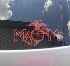 Usmc Ega Mom Miliary Decal Custom Us Marine Vinyl Car Truck Window Sticker In 2020 Usmc Mom Usmc Usmc Decal