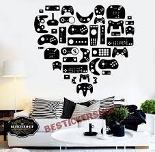 Gamer Xbox Wall Decal Eat Sleep Game Controller Video Game Wall Decals Customized For Kids Bedroom Vin Vinyl Wall Art Bedroom Wall Decals Vinyl Wall Art Decals