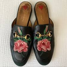Gucci Shoes | Princeton Rose Loafer Mule 37 | Poshmark