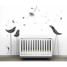 Littlelion Studio Carnival Birds Monochromatic Wall Decal Wayfair