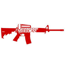 Unapologetically American Ar 15 Decal