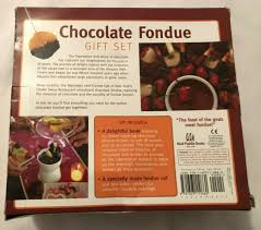 chocolate fondue gift set 7 piece