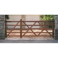 Somerset Softwood Or Iroko Driveway Gates From Crestala Fencing Centre