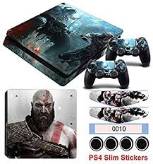 Amazon Com Homie Store Ps4 Pro Skin Ps4 Skins Ps4 Slim Sticker Ps4 Slim Sticker Hot Game God Of War Stickers For Playstation 4 Slim Console Controller Vinyl Skin