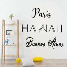 Personalized Paris Wall Sticker Wall Decal Sticker Home Decor For Kids Rooms Home Party Decor Wallpaper Wall Stickers Aliexpress