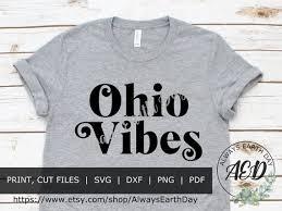 Ohio Svg Ohio Shirt Ohio State Svg Ohio Decal Buckeye Etsy