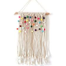 Colorful Macrame Tapestry Wall Nursery Decor Kids Room Hanging Decoration Bohemian Tapestries Backdrop Handmde Wall Art Wish