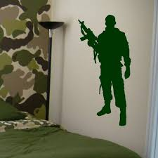 Military Army Soldier Wall Decal Home Boys Bedroom Decor Art Mural Vinyl Sticker 2fj19 Wish