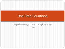 ppt one step equations powerpoint