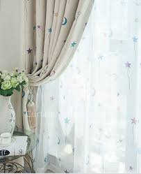 Cute Nursery Blackout And Thermal Star Curtains Kids Curtains