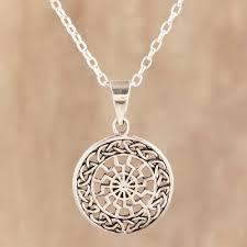 celtic pattern sterling silver pendant