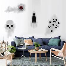 Shop Removable Scary Ghost Pattern Halloween Decor Window Mural Wall Sticker Room Door Decor Home Kid Room Bedroom Wall Art Decals Online From Best Bed Pillows On Jd Com Global Site Joybuy Com