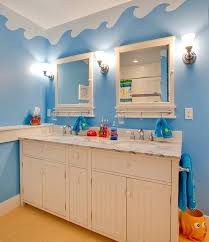 Kids Room Underwater World Theme On The Walls With Unique Kids Beach Themed Bathroom Autoiq Co