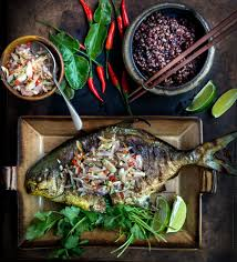 Pan-Fried Whole Fish (Pompano) with ...